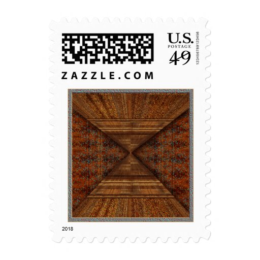 Egyptian Topaz Golden Pyramid Abstract Art Stamp