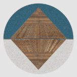 Egyptian Topaz Golden Pyramid Abstract Art Stickers