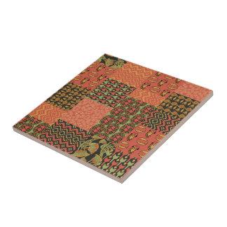 Egyptian Tribal Faux Patchwork Ceramic Tile