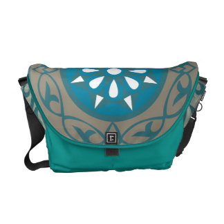 Egyptian Twist Messenger Bag in Turquoise and blue