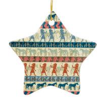 Egyptian Unicorn Pattern Ceramic Ornament