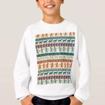 Egyptian Unicorn Pattern Sweatshirt