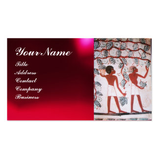 EGYPTIAN VINEYARD WINE GRAPE HARVEST ,RED WAX SEAL Double-Sided STANDARD BUSINESS CARDS (Pack OF 100)