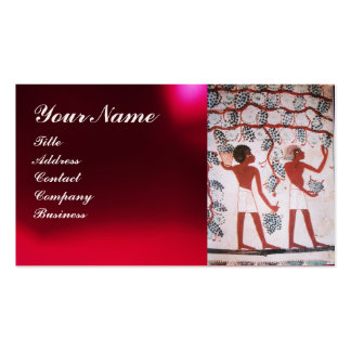 EGYPTIAN VINEYARD WINE GRAPE HARVEST  White Pearl Double-Sided Standard Business Cards (Pack Of 100)