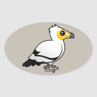Egyptian Vulture Oval Sticker