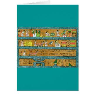 Egyptian Wall Art Greeting Card