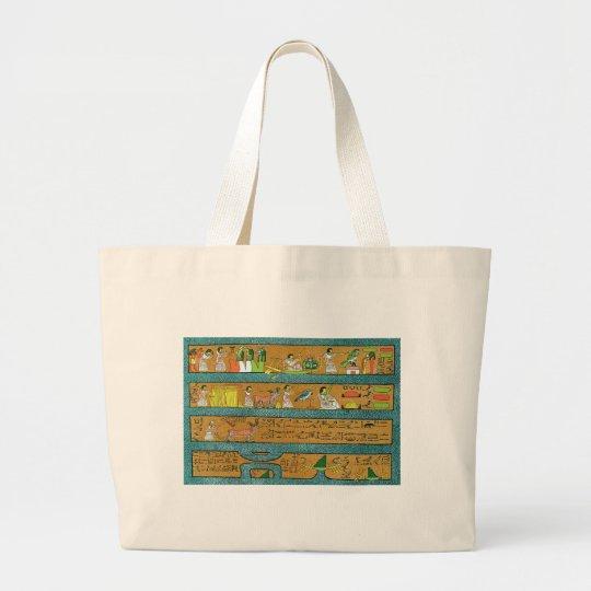 Egyptian Wall Art Large Tote Bag