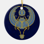 Egyptian Winged Scarab, Blue Ornaments