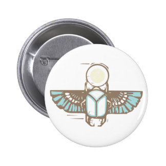 Egyptian Winged Scarab Button