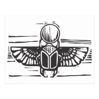 Egyptian Winged Scarab Postcard