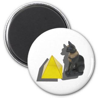 EgyptianCatPyramid021411 Fridge Magnets