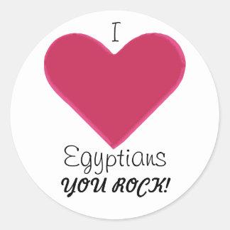 Egyptians Rock! Classic Round Sticker