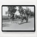 Egyptians with Carts and Donkeys circa 1934 Mouse Pad