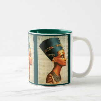 Egyptica Queen Nefertiti Ancient History Drinkware Two-Tone Coffee Mug