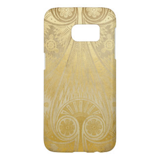 Egyption Gold White Taupe Scrolls Samsung Galaxy S7 Case