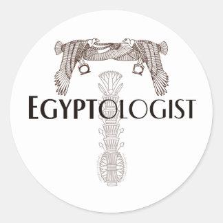 Egyptologist Classic Round Sticker