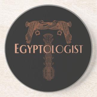Egyptologist with Ancient Egyptian Symbols Coaster