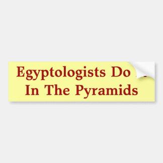 Egyptologists lo hace en las pirámides pegatina para auto