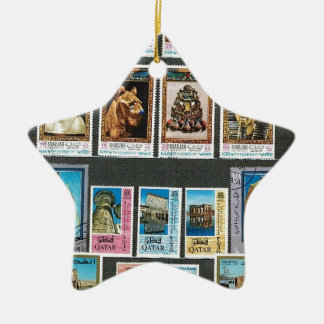 Egyptology on stamps christmas tree ornaments