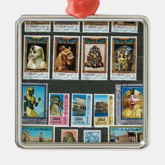 Egyptology on stamps ornaments