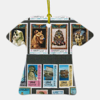 Egyptology on stamps christmas ornaments