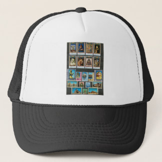 Egyptology on stamps trucker hat