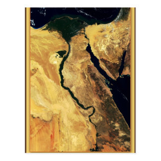 Egypt's Nile River from outer space Postcard