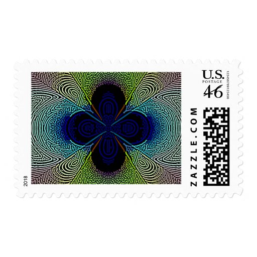 egzotic flower postage stamps