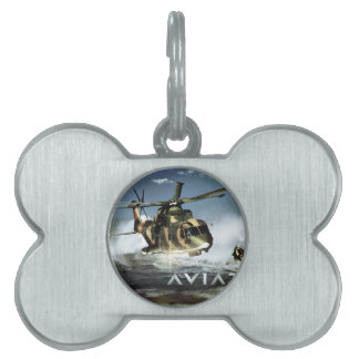 EH 101 MERLIN Helicopter Pet ID Tags