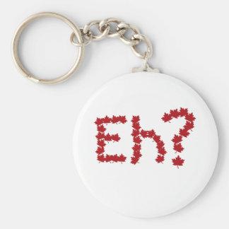 Eh? Basic Round Button Keychain