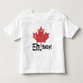¡Eh, bebé!  Diseño hecho canadiense del niño Playera