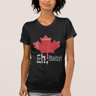 ¡Eh, bebé!  Diseño orgulloso canadiense de la hoja Playera