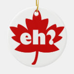 eh canada day Double-Sided ceramic round christmas ornament