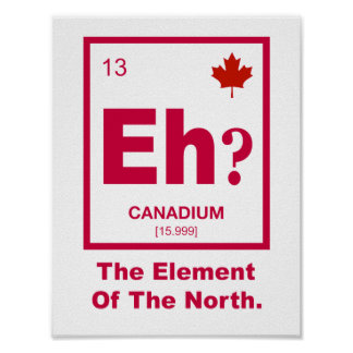 Eh? Canadian Element of Canada Poster