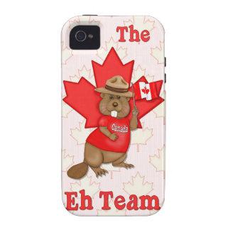 Eh castor del equipo Case-Mate iPhone 4 funda
