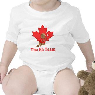 Eh castor del equipo traje de bebé