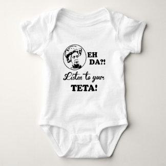 EH DA?! Listen to your TETA! Baby Bodysuit