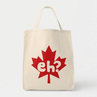 Eh día canadiense de Canadá del orgullo Bolsas Lienzo