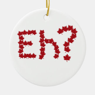 Eh? Double-Sided Ceramic Round Christmas Ornament