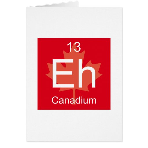Eh elemento de Canadium Tarjetas