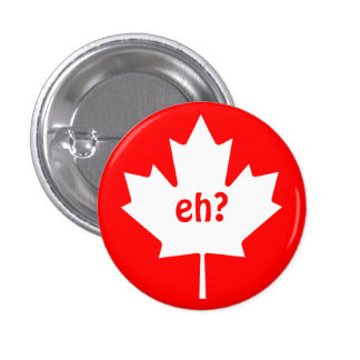 Eh en el botón canadiense del símbolo de la hoja d pin