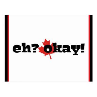 eh? okay! Happy Canada Day/ Canadian Postcard