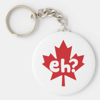 Eh orgullo canadiense llavero redondo tipo pin