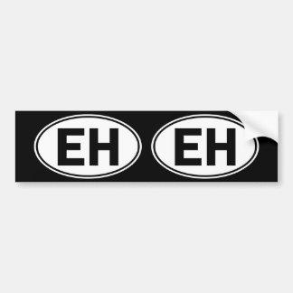 EH Oval Identity Sign Bumper Sticker
