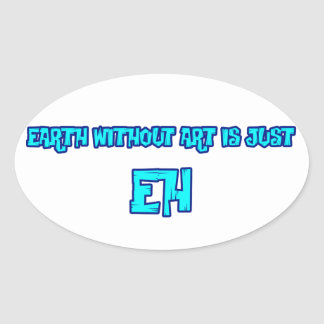 eh oval sticker