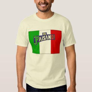 Eh Paisano w/Italian Flag T Shirt