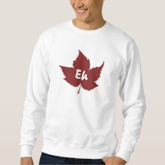 Eh red maple leaf for canada day sweatshirt