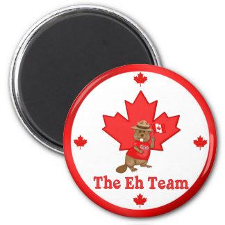 Eh Team Beaver 2 Inch Round Magnet