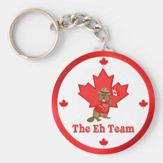 Eh Team Beaver Basic Round Button Keychain