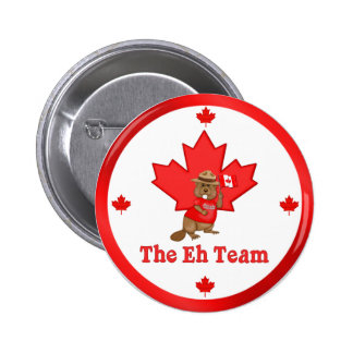 Eh Team Beaver Pinback Button